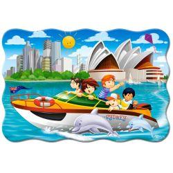 Castorland  MAXI 20 Puzzle Výlet na člne v Sydney