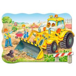 Castorland Maxi 20 Puzzle Buldozér v akcii