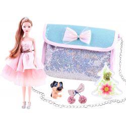Bábika Emily s kabelkou a psíkom