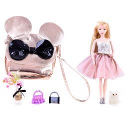 Bábika Emily so zlatou kabelkou myškou