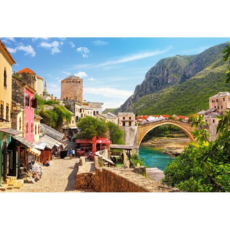 Castorland Puzzle Mostar - staré mesto, 1500 dielov