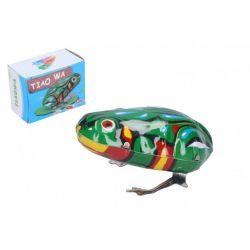 Naťahovacia kovová žaba