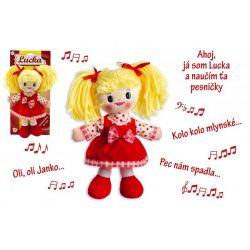 Handrová bábika Lucka plyš, hovorí slovensky