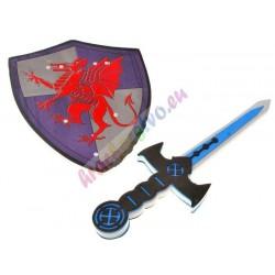 Penový meč + štít pre rytiera