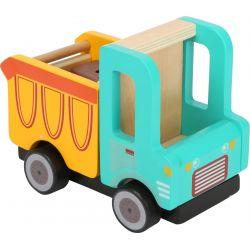 Small Foot: Detské drevené autíčko – Vyklápačka 16 cm, 18m+