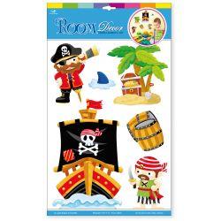 Nálepky na stenu: Piráti
