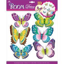 Nálepky na stenu: Motýle