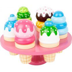 Drevené skladacie zmrzlinky na stojane