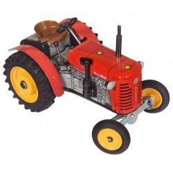 Traktor Zetor 25A, kovový na kľúčik, červený 15 cm