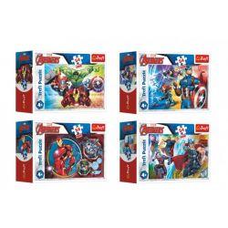 Minipuzzle Avengers, 4 druhy