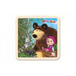 Drevené puzzle Máša a medved
