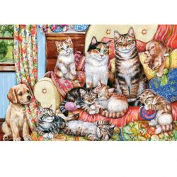 Castorland Puzzle Mačacia rodinka, 300 dielov