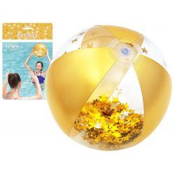 Bestway 31050 Nafukovacia lopta Glamour s trblietkami, zlata