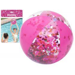 Bestway 31050 Nafukovacia lopta Glamour s trblietkami, ružová