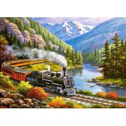 Castorland Puzzle Vlakom okolo rieky, 300 dielov