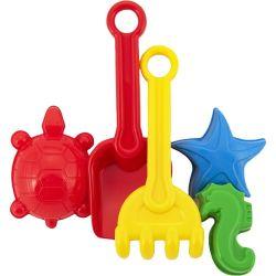 Set na piesok - lopatka, hrabičky, 3 bábovky