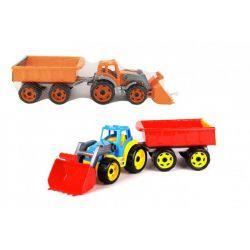 Traktor s lžicou a vlekom 61cm