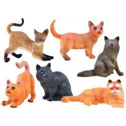 Figúrky domácich mačiek, 6 modelov