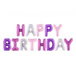 Fóliový balón- Happy Birthday, mix