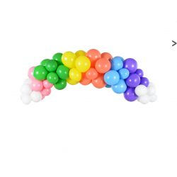 Balónová girlanda- Farebná dúha