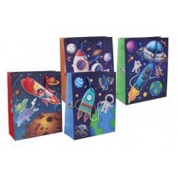 Darčeková taška Vesmír 26cm, mix
