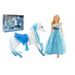 Kôň česací + bábika Ľadová princezná
