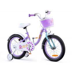 """RoyalBaby Detský bicykel Chipmunk MM, 16"""", Fialovy"""