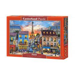 Castorland Puzzle Uličky Paríža, 500 dielov