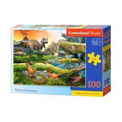 Castorland Puzzle Svet dinosaurov, 100 dielikov