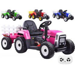 Elektrický traktor s vlečkou, 4farby