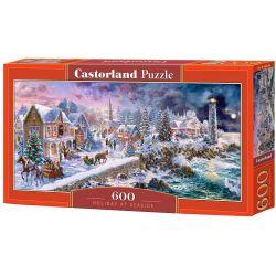 Castorland Puzzle Zimná krajina, 600 dielikov