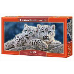 Castorland Puzzle Snežní leopardi, 600 dielikov