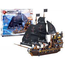 Stavebnica čierna pirátska loď, 1334 dielov