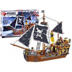Stavebnica bronzová pirátska loď, 722 dielov