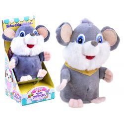Hovoriaca opakujúca myška, sivá