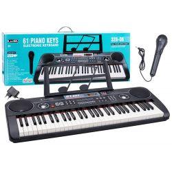 Veľké piano + mikrofón, čierna