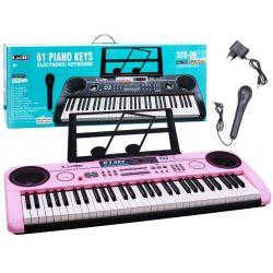 Veľké piano + mikrofón, ružová