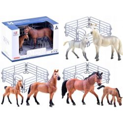 Maľované figúrky – Kôň so žriebätkom