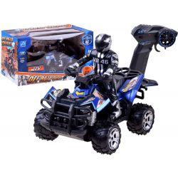 Štvorkolka Quad s vodičom na diaľkové ovládanie, modrá