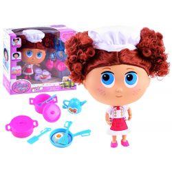 Bábika malá kuchárka s príslušenstvom