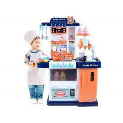 Detská kuchynka s príslušenstvom, modrá