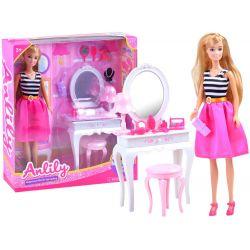 Anlily bábika s toaletným stolíkom a príslušenstvom