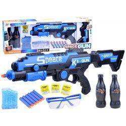 Puška na gélové a penové náboje, modrá