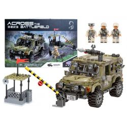 Technická stavebnica – Vojenské auto + strážnica