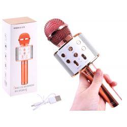 Bezdrôtový karaoke mikrofón, červená