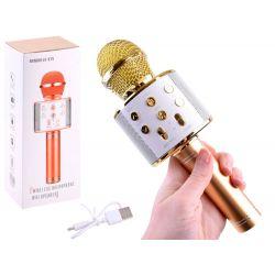 Bezdrôtový karaoke mikrofón, zlatá