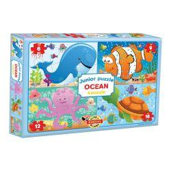 Puzzle Junior 4v1, ocean
