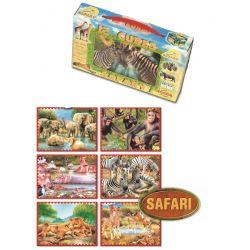 Kocky s obrázkami 6v1, divoké zvieratá