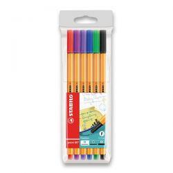Farebné perá Stabilo, 6 farieb