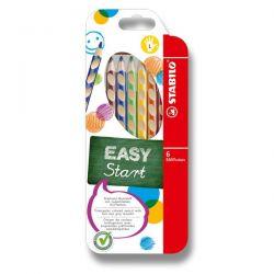 Farebné pastelky Stabilo Easy pre ľavákov, 6 ks